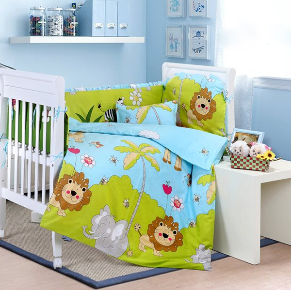 Super Cute Vivid Animals 10-Piece Crib Bedding Sets