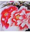 Chinoiserie Peony Digital Printing Polyester Throw Pillowcase