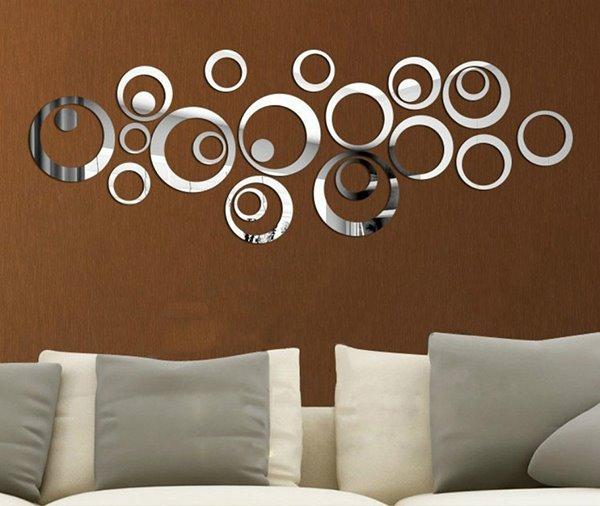 Unique Creative Crystal Mirror Circular DIY 3D Wall Sticker