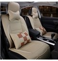 Fancy and Exquisite With Partial Checkers Style Universal Car Seat Covers