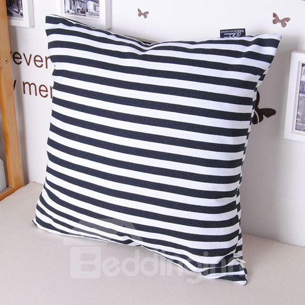 Faddish Modern Zebra-stripe 100% Cotton Throw Pillowcase