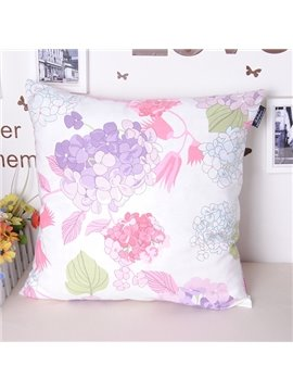 Mild Flower Leaves Refreshing Color Cotton Throw Pillowcase