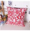 Artistic Creative Fruit Ripe Printing Cotton Throw Pillowcase