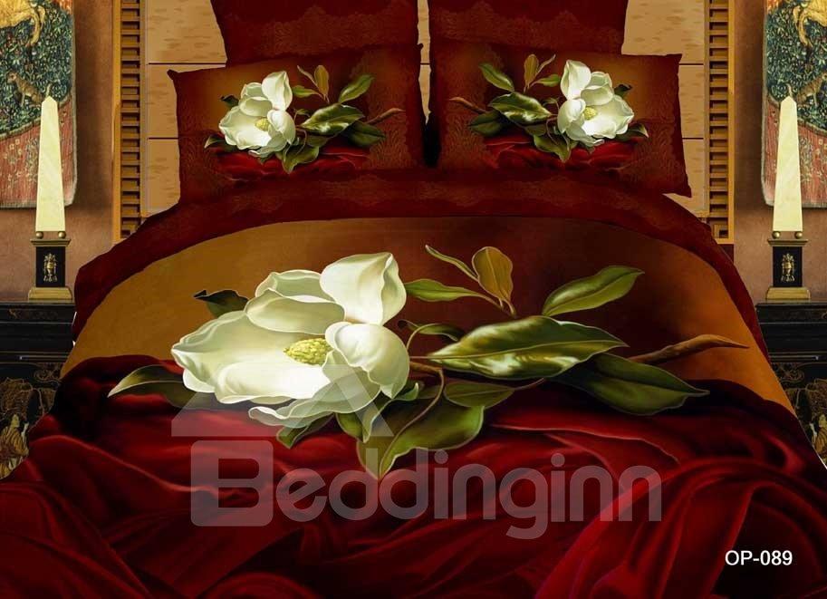 Vintage Romantic White Flower 2-Piece Pillow Cases