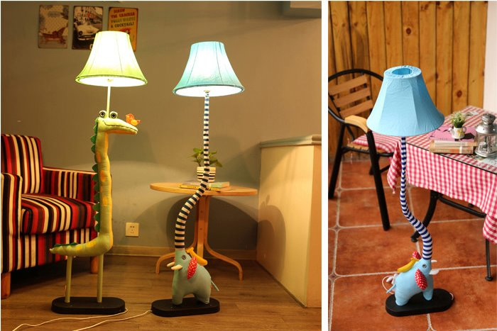 Fashion and Cute Soft Material Standing Lamp
