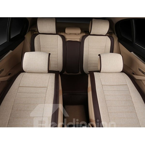 breathable and plain flax car seat covers. Black Bedroom Furniture Sets. Home Design Ideas