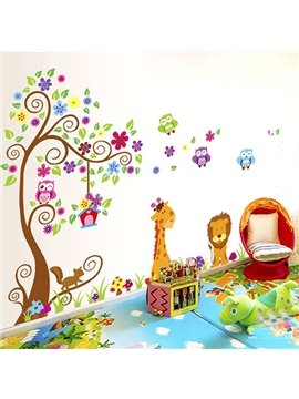 Vivid Cartoon Tree and Animals Wall Sticker for Baby&Kids