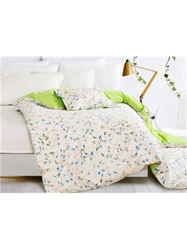 Elegant Pastoral Flowers Style 4-Piece Duvet Cover Sets