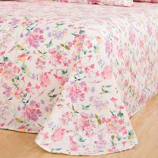 Rural Style Sweet Wild Pink Flowers 4-Piece Cotton Duvet Cover Sets
