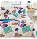 Unique Fashion Bags & High Heels Printing 4-Piece Cotton Duvet Cover Sets