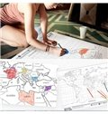 Consice and Unique Fashion Style Scrapeable Luminous World Map