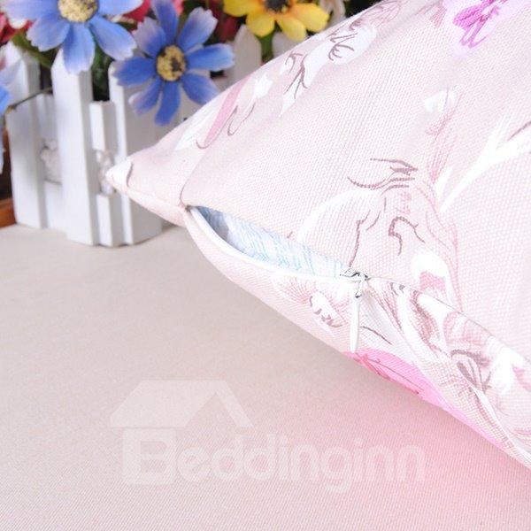 Cuddly Gorgeous Peony Comfy Cotton Throw Pillowcase