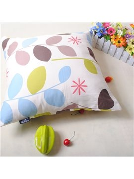 Graceful Cuddly Leaves Printing Cosie Throw Pillowcase