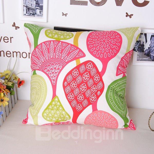 Creative Multicoloured Cathaya Argyrophylla Leaves Throw Pillowcase