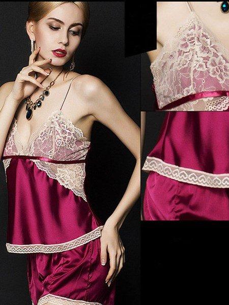 Sumptuous Sexy Lace Trim Straps Cami Set