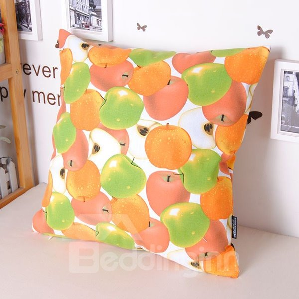 Lovely Pleochroic Apples Printing Cosie Cotton Throw Pillowcase