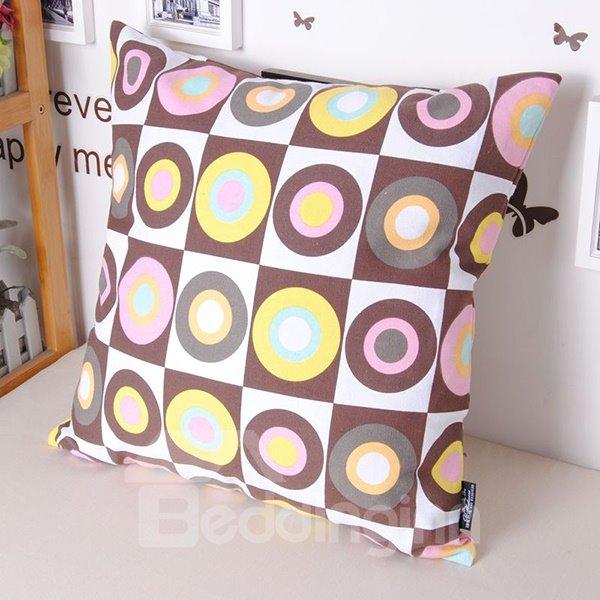 Fancy Faddish European Style Circle Printing Throw Pillowcase