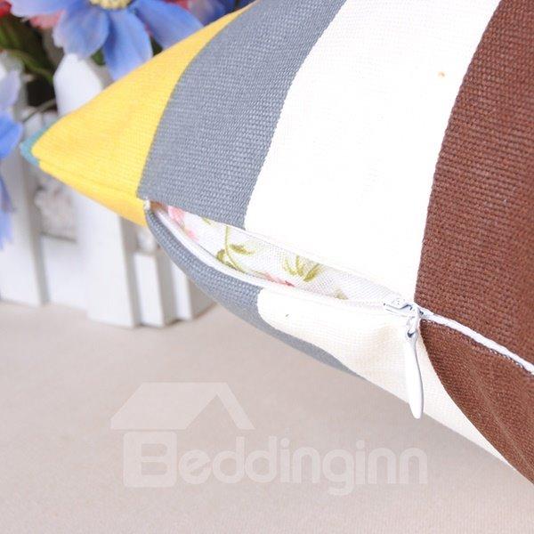 Splendid Trendy Plaid Design Cotton Throw Pillowcase