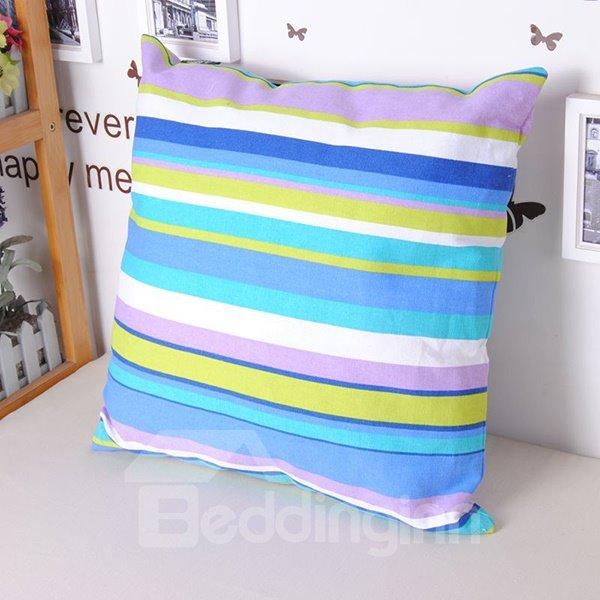 Super Comfy Fashionable Stripe Contemporary Style Throw Pillowcase
