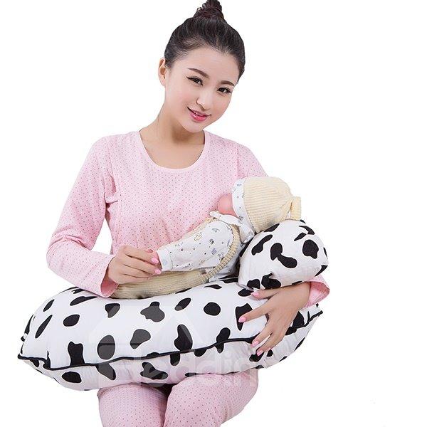 Cute Nursing Pillow : Cute U Shaped Cows Pattern Nursing Breastfeeding Pillow - beddinginn.com