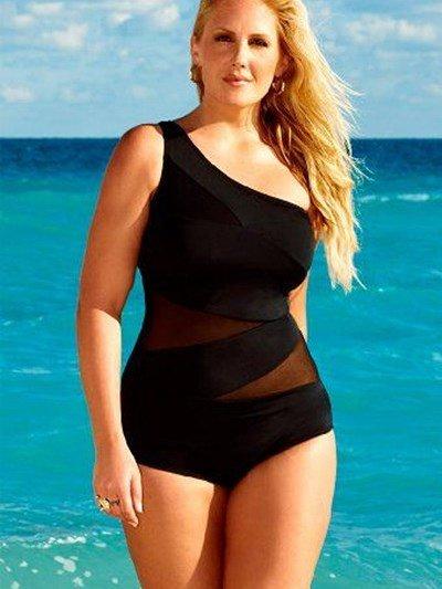 Single Shoulder Swimwear with Freewire Sexy Hollow Tankini