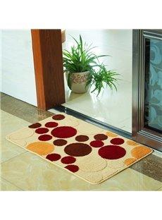 Modern Multi-Color Circles Print Anti-Slipping Area Rugs