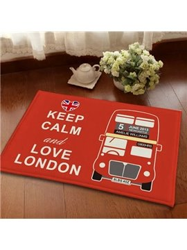 Creative Keep Calm and Love London Anti-Slipping and Water-Absorbing Area Rugs