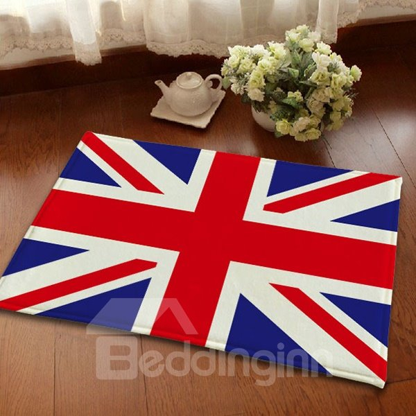 Top Quality Flannel Anti-Slipping British Flag Union Jacks Area Rugs
