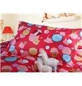 Cute Bear and Ladybird Pattern 4-Piece Cotton Duvet Cover Sets