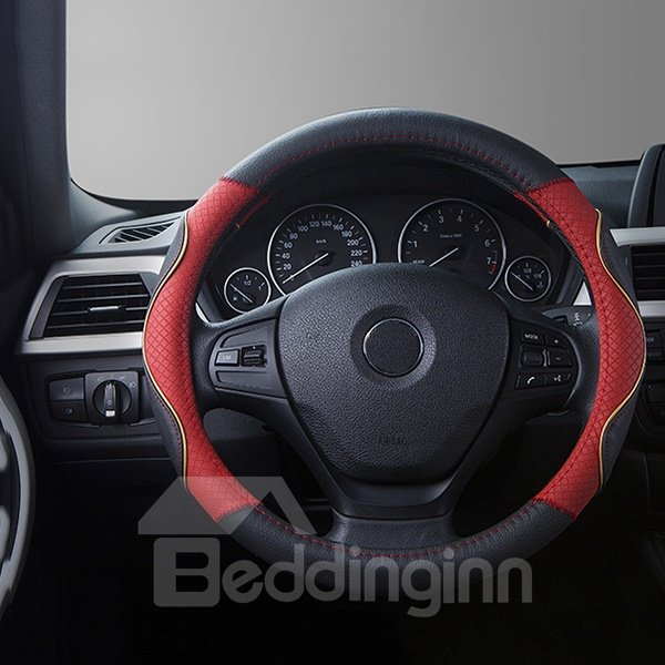 Absolute High Quality Whole Leather Material Medium Steering Wheel Cover
