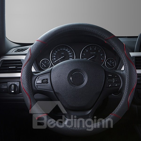 Absolute Whole Leather Material Medium Steering Wheel Cover