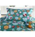 Lovely Bear Pattern Cotton 4-Piece Duvet Cover Sets