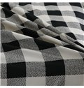 Classic Black White Plaid Design 4-Piece Duvet Cover Sets