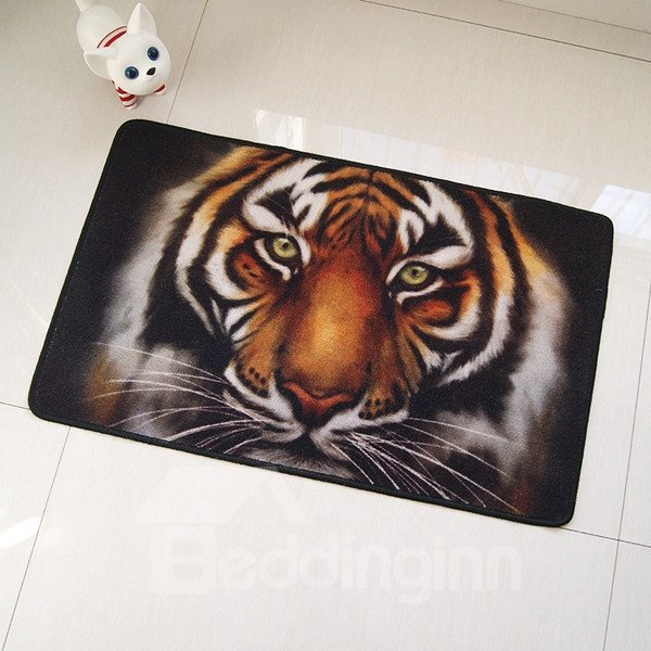 Unique 3D Vivid Tiger Skidproof Bath Rugs