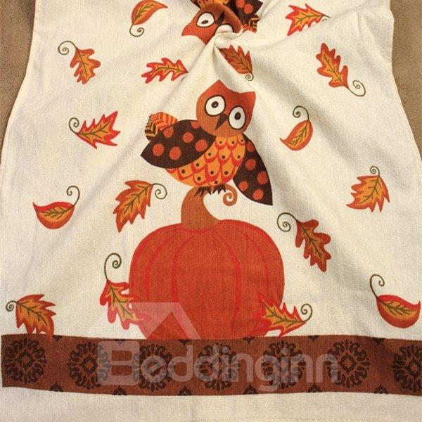 Unique Cozy Pure Cotton Owl Image Towels