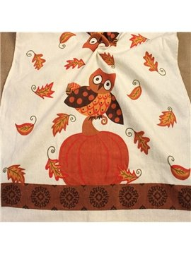 Unique Cozy Pure Cotton Owl Image Towels