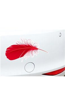 Well Designed Real Feather Printing Car Stickers