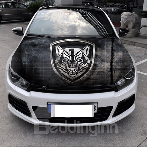 Popular Selling Black Classic Wolf Head Pattern Car Stickers