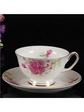 Gorgeous European Style Afternoon Tea Bone China Coffee Cup Sets