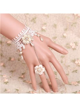 Popular High Quality Lovely White Princess Style Lace Bracelet