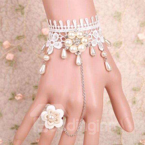 Popular High Quality Lovely White Princess Style Lace Bracelet
