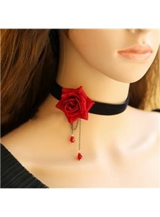Particular Rose New Style High Quality Lace Necklace