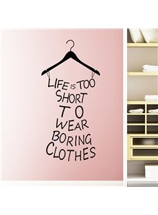 Inspiring Words and Quotes Life is Too Short Wall Sticker
