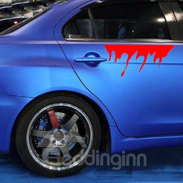 Super Creative Horrible Blood Shape Car Stickers