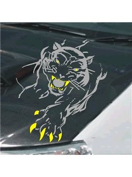 Angry Tiger with Special Teeth And Paws Creative Car Stickers