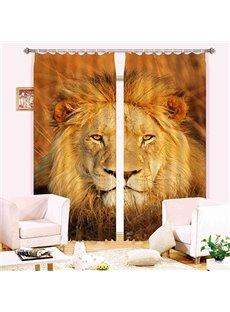 Stunning 3D Lion Energy Saving Curtain