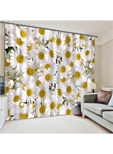 3D Daisy Flower Polyester Energy Saving Curtain