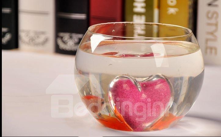 Fancy Heart Design High Borosilicate Heat-resistant Glass Vase