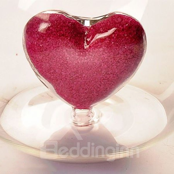 Fancy Heart Design High Borosilicate Heat-resistant Glass Vase