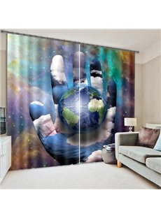 Unique Design Reactive Print 3D Blackout Curtain